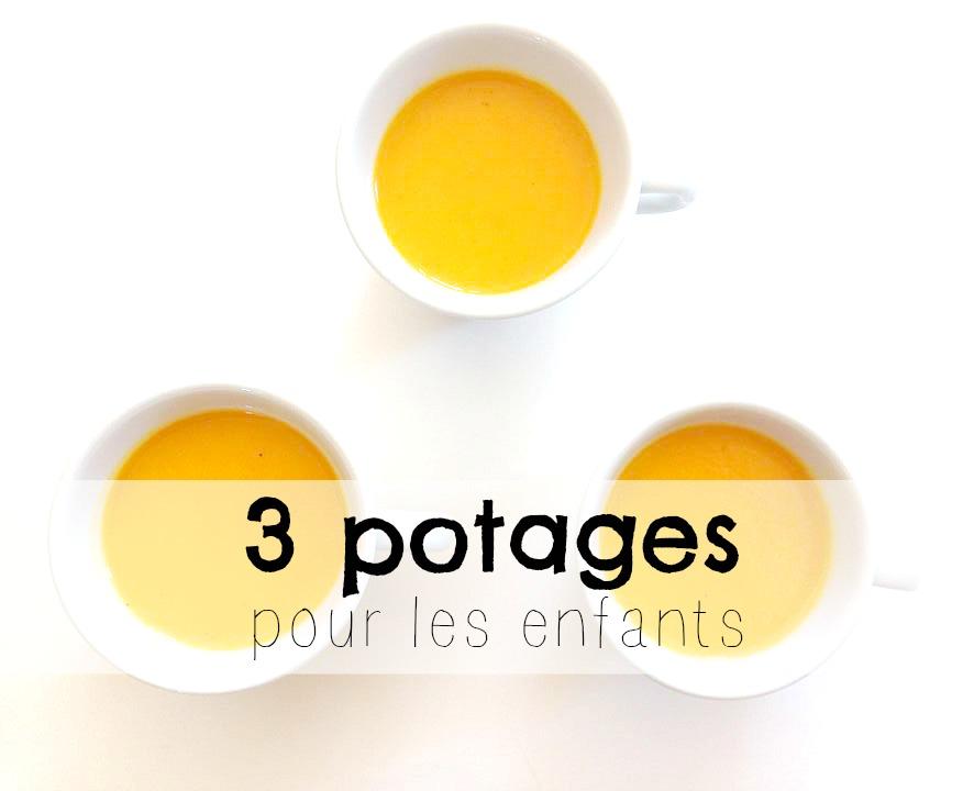 3 recettes de potages pour enfants