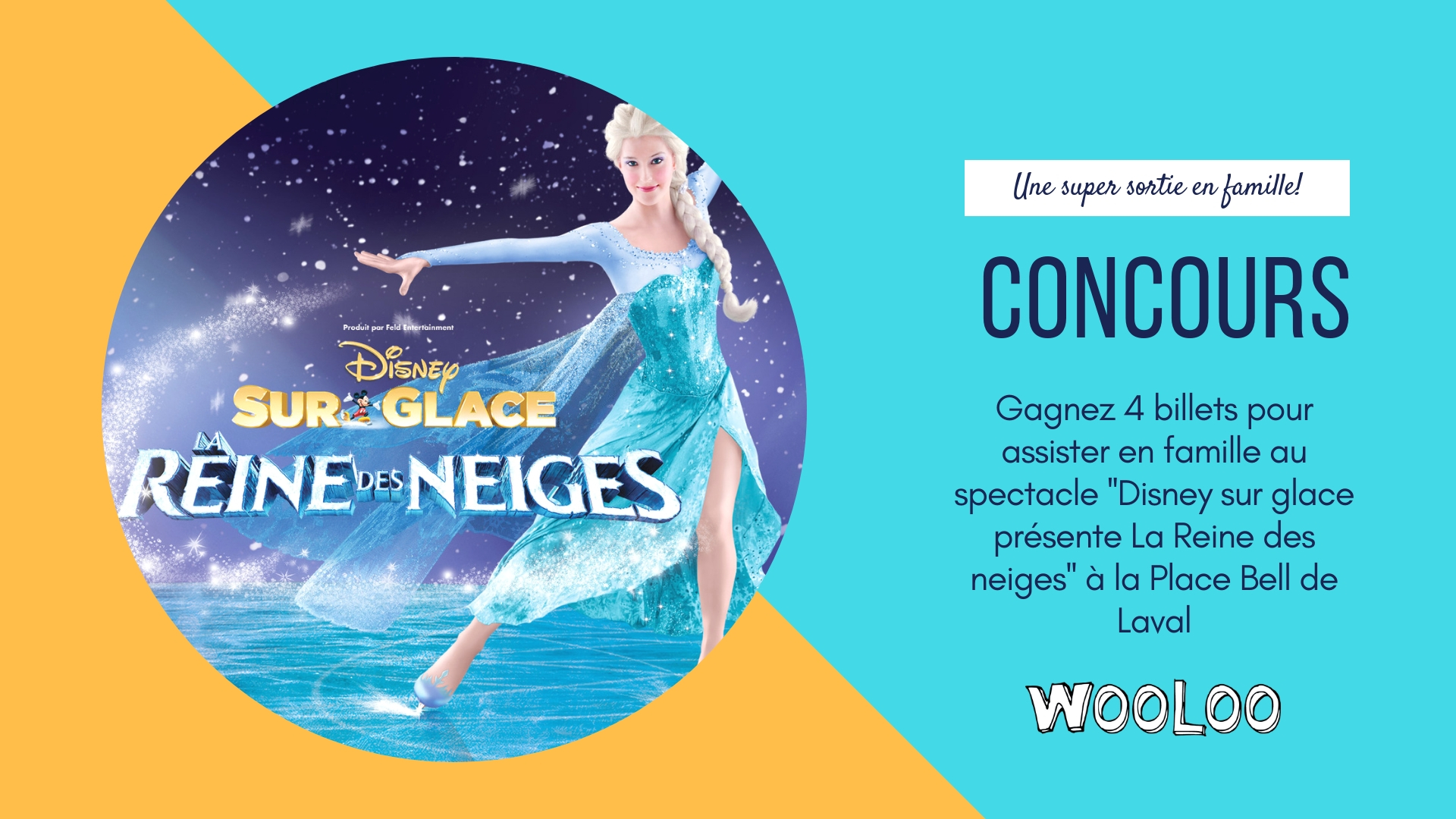 CONCOURS: Disney sur glace présente La Reine des neiges