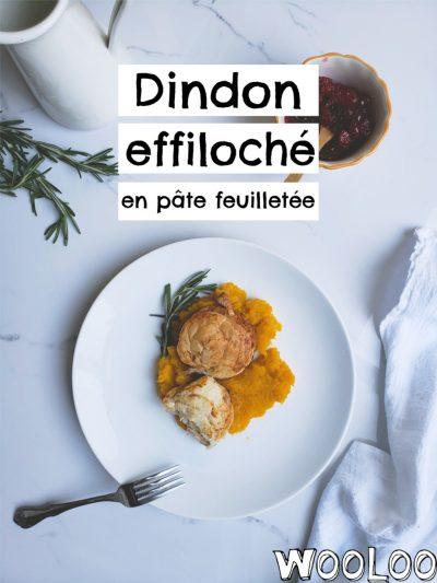 Dindon effiloché en pâte feuilletée wooloo