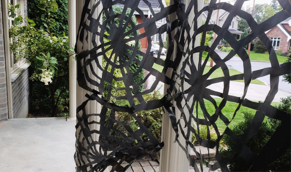 Toiles d'araignées géantes DIY