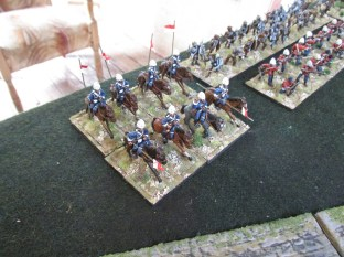 The British Lancers show up. Better late than never.