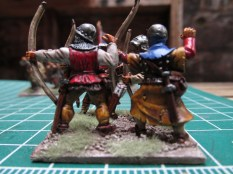 (L) Front Rank Archer (R) GW 6th Ed plastic archer