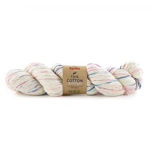 Fair Cotton Hand Dyed 703 Waterblauw-Blauw-Roos