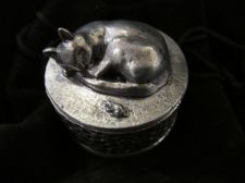 Small pewter boxes