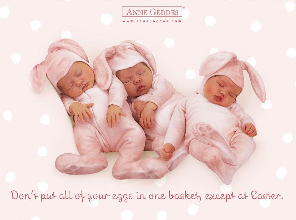 anne geddes babies9 Babies Come as Three Angels by Anne Geddes