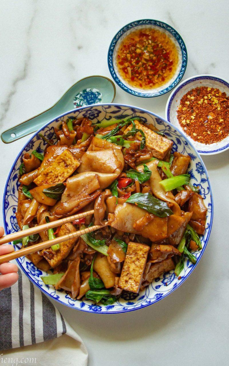 Vegan Pad Kee Mao (Drunken Noodles)