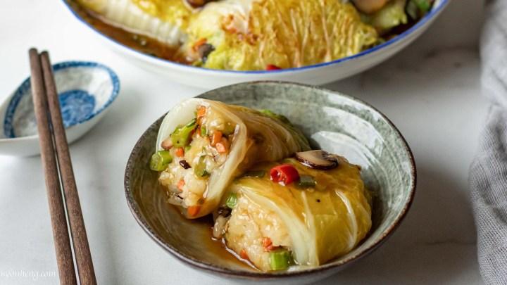 cabbage-sticky-rice-rolls