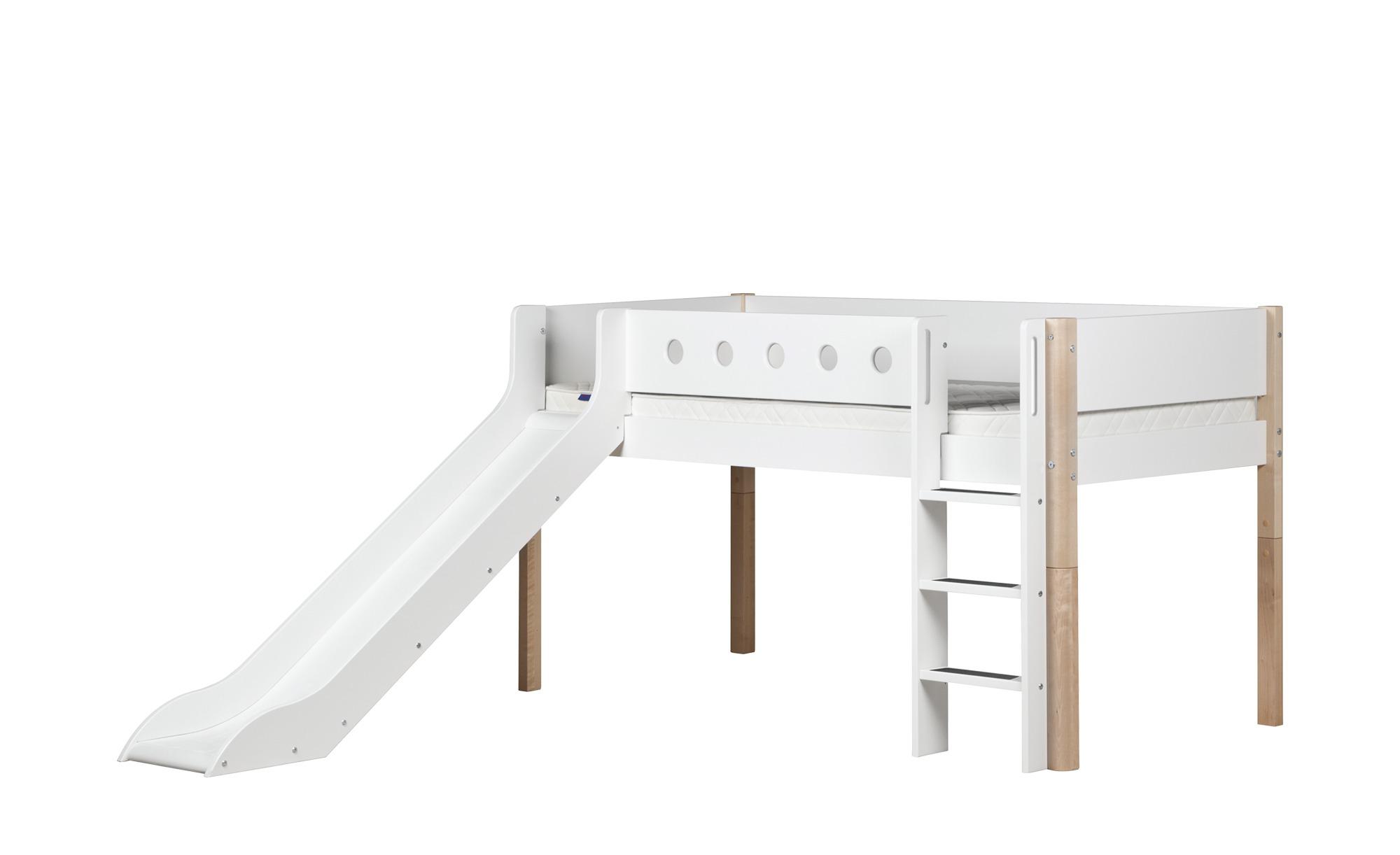 Flexa Halbhohes Bett Mit Rutsche Flexa White Breite 250