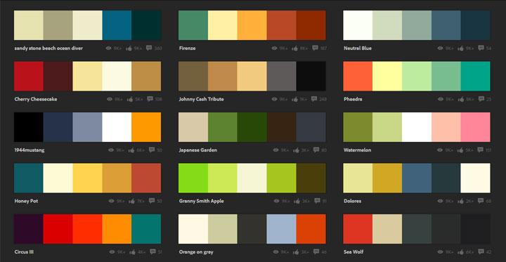 Kuler helpt je een kleurpalet samen te stellen  woonmooi