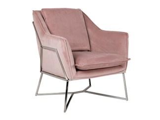 Fauteuil Aurelia Pink velvet / silver (Quartz Pink 700)