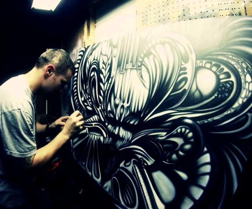 Airbrush schilderij