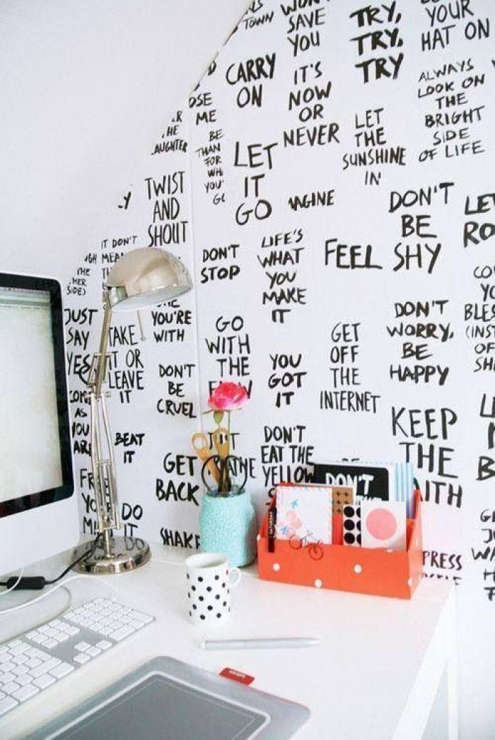 tekst aan de muur