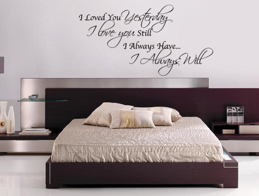 slaapkamer tekst aan de muur