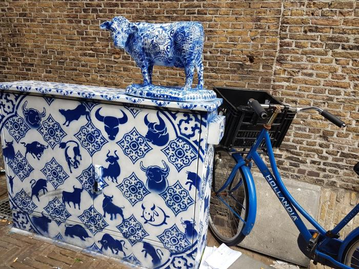 Delfts blauwe koe