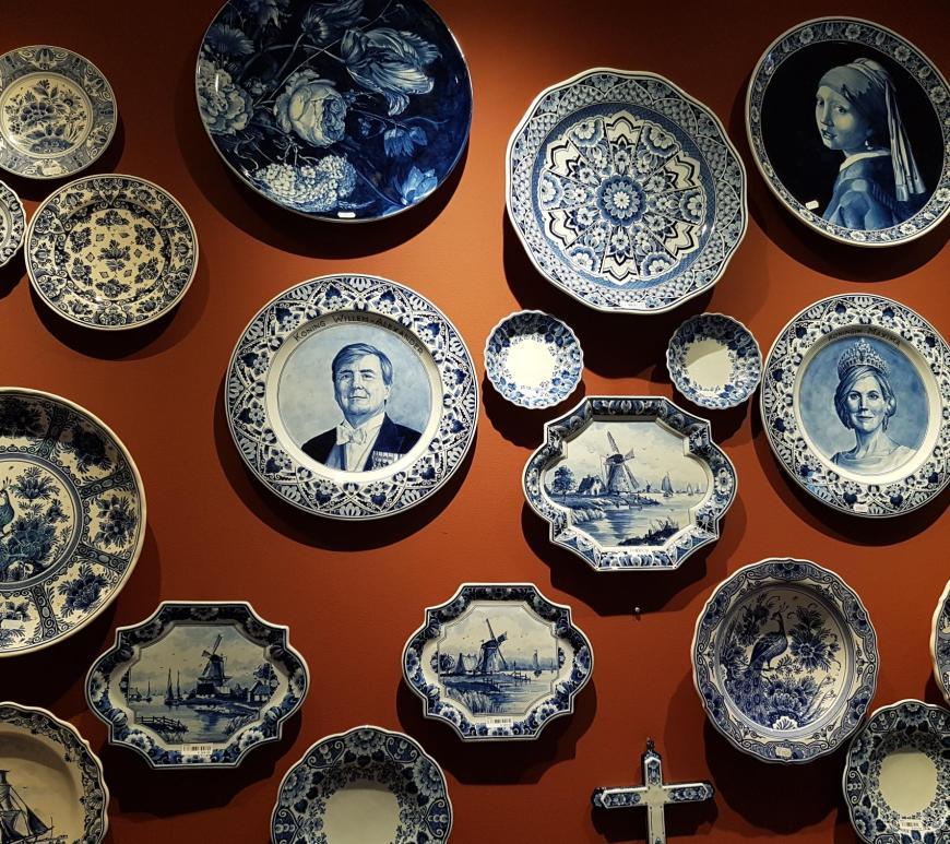 Delfts blauw koninklijk werk