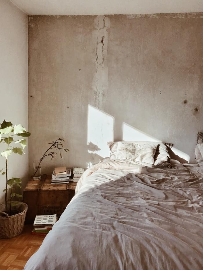 betoonlook slaapkamer