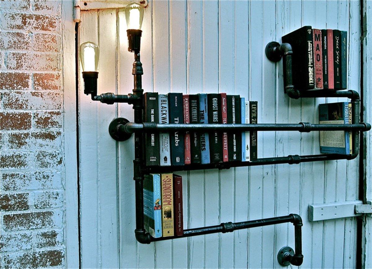 Inspirerende boekenplanken van buizen  Woonspiratie