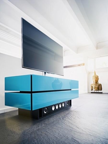 Alle techniek weggewerkt in een tv meubel  Woonstijl