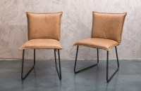 Comfortable dining chairs leather - Woontheater