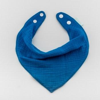 Bavetă bandană din bumbac albastru deschis