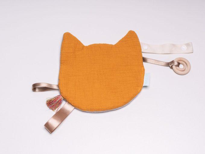 Jucărie Doudou Pisică Galbenă
