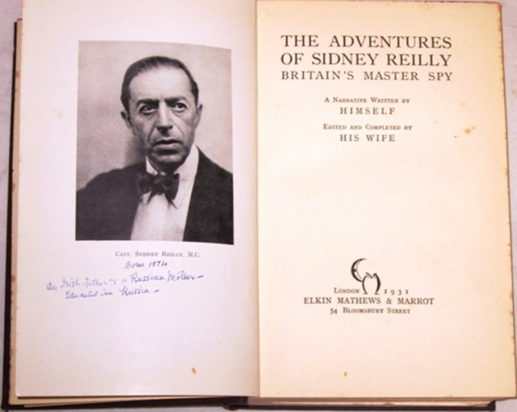 Titelpagina biografie Sidney Reilly