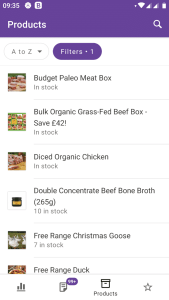 Update products in woocommerce mobile app