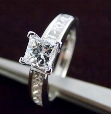 Princess cut engagement