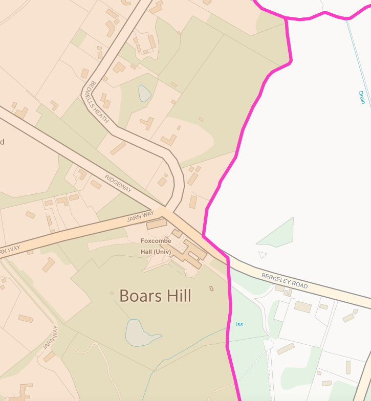 Wootton Parish Boars Hill Boundary