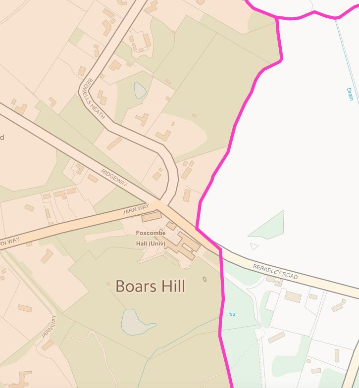 Wootton Parish Boars Hill Boundary