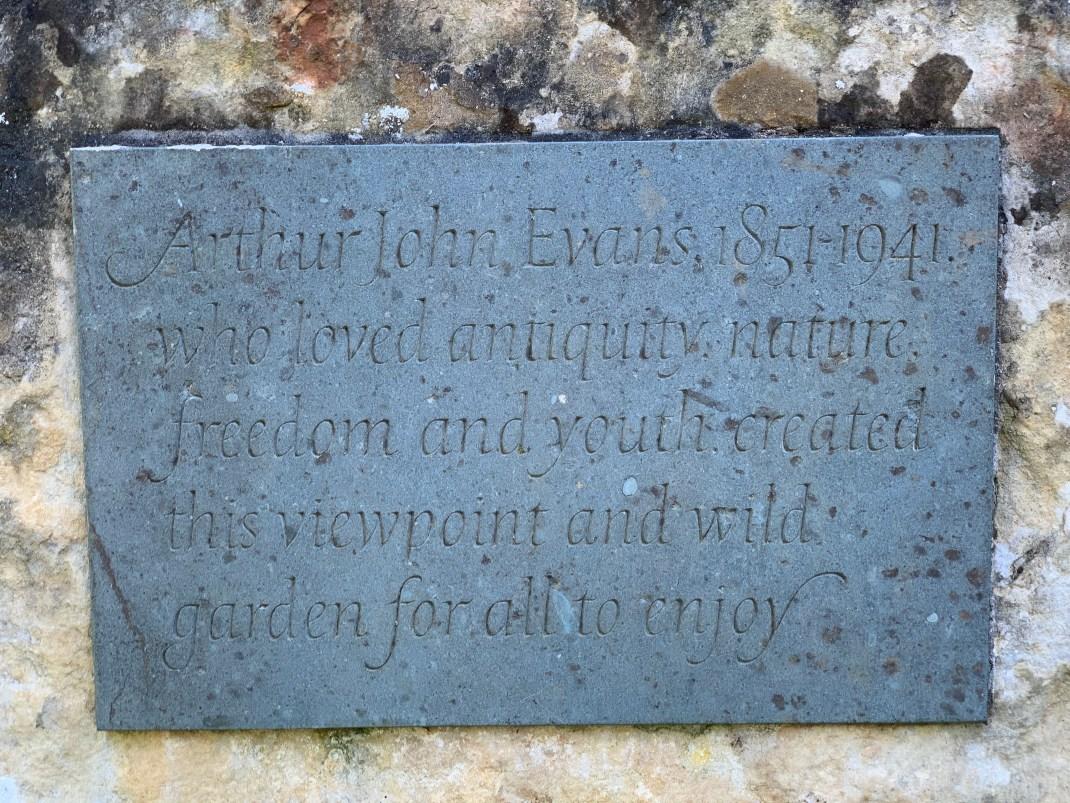 wootton parish arthur evans plaque w