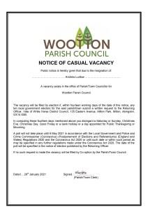 Parish council Casual Vacancy VOWH Covid19 AL page 0001