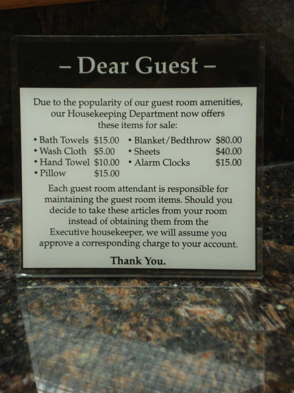 A PassiveAggressive Hotel Sign  The Woo Woo Teacup Journal