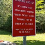 Firing Range Sign