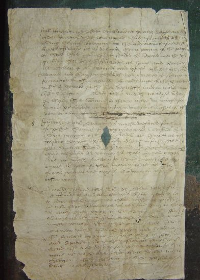 Letter fragment. Image copyright the Dean and Chapter of Worcester Cathedral (UK).