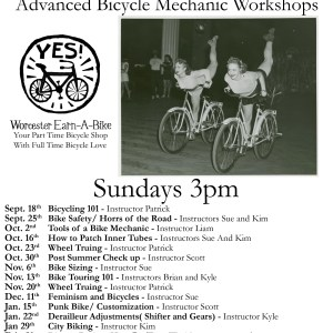 Sundays At 3pm Advanced bicycle mechanic training