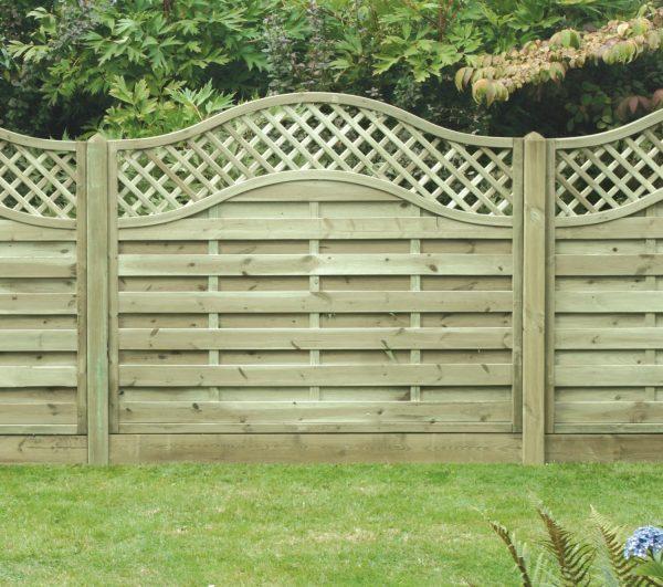 Omega Lattice Top Fence Panel 6ft x 5ft