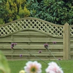Omega Lattice Top Fence Panel 6ft x 4ft