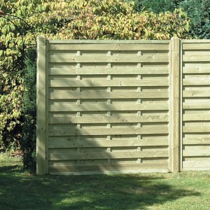Square Horizontal Fence Panel 6ft x 6ft