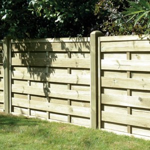 Square Horizontal Fence Panel 6ft x 3ft