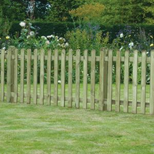 Planed Smooth Picket Fence