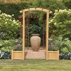 Hanbury Arch with Planters