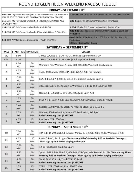 2017-Round-10-Weekend-Race-Schedule