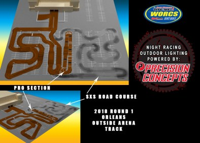 NIGHT RACING OUTDOOR LIGHTING POWERED BY PRECISION CONCEPTS.