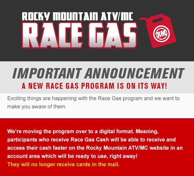 New Rocky Mountain Race Gas Program!