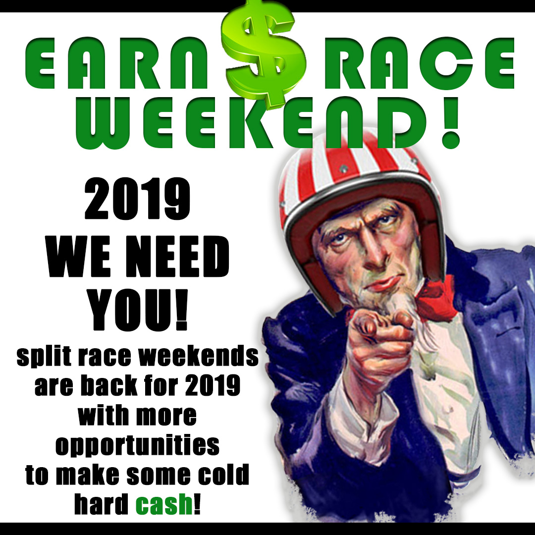 2019 Race Weekend Help