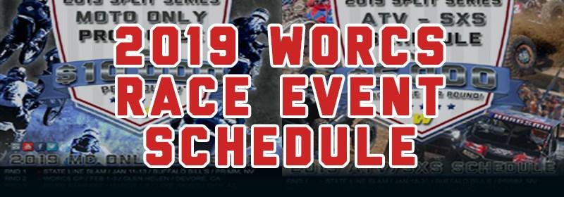 2019 WORCS MC ATV SXS EVENT RACE SCHEDULE