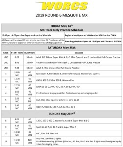 Round 6 2019 Mesquite MC Race Weekend