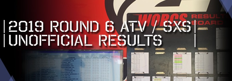 2019 Round 6 ATV SXS Unofficial Results Board