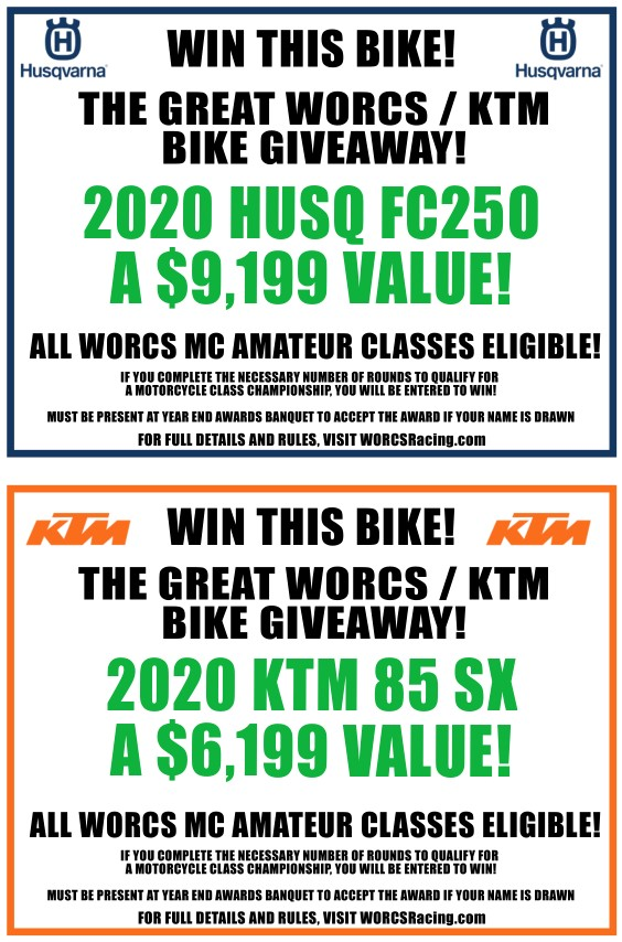 2020 HUSQ/KTM END OF YEAR BIKE GIVEAWAY